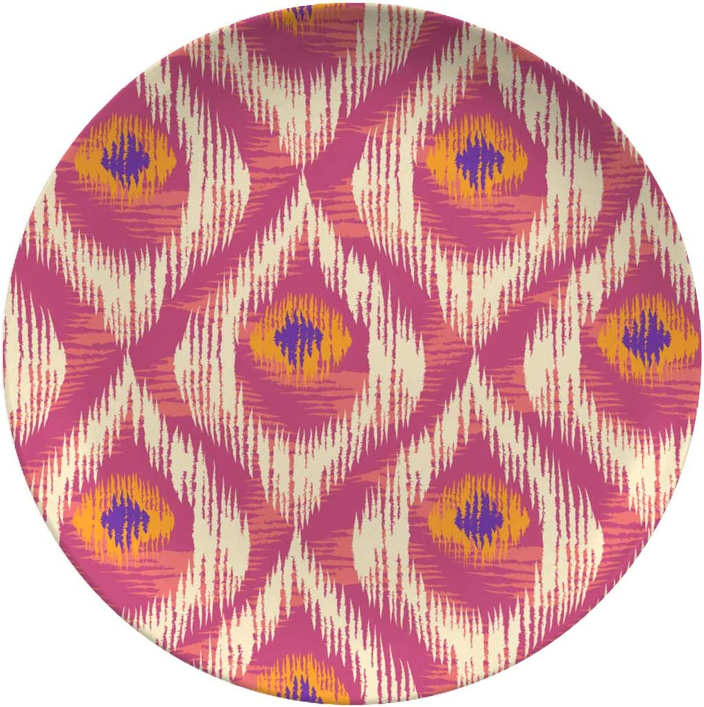 Art Ceramic Dinner Plates,Retro Ikat Colorful Pattern,dinner Plates Set Plate For Home And Kitchen,dinner Dishes,10 Inch 6 Piece Set