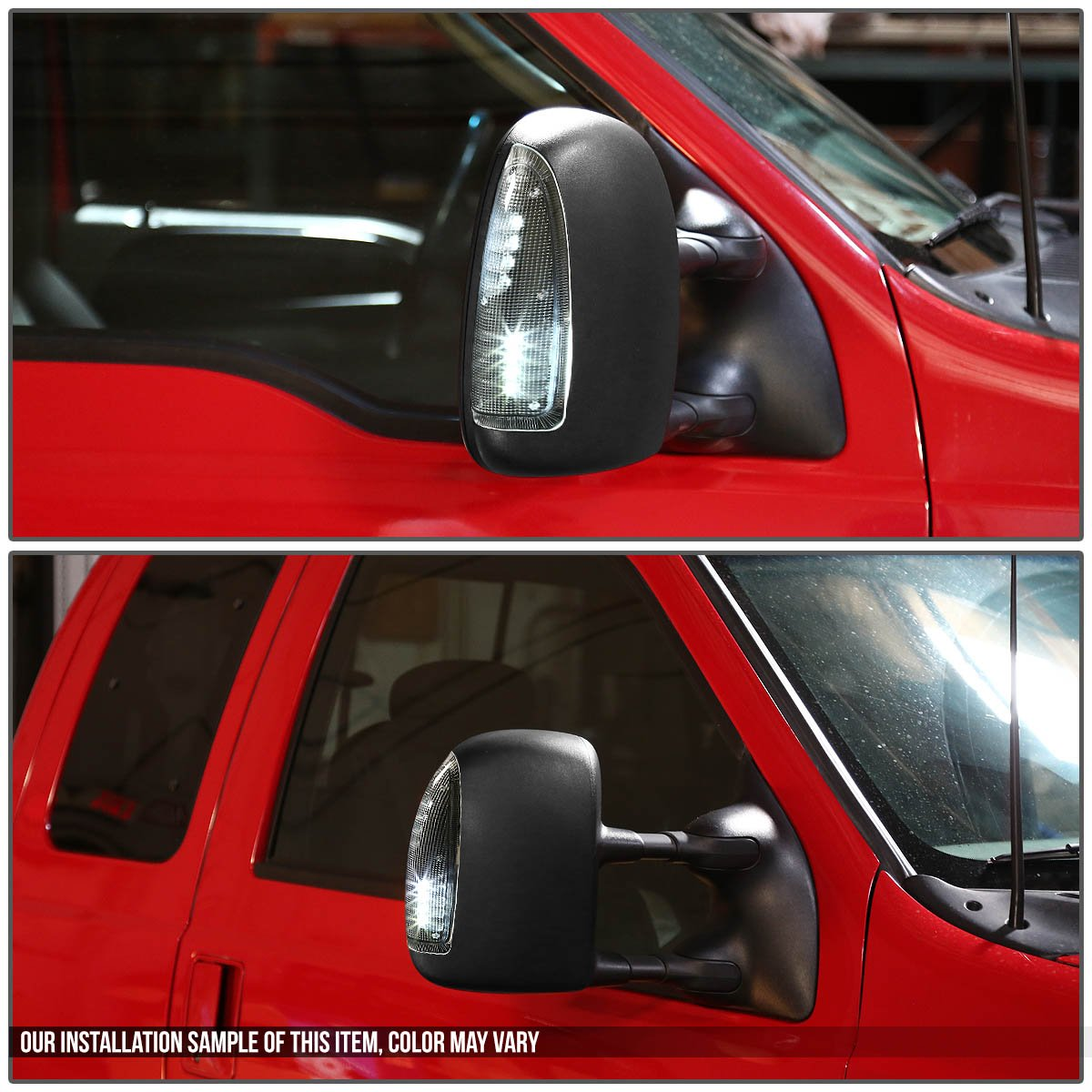 White LED For Ford Super Duty//Excursion Smoke Lens Towing Side Mirror Turn Signal Light