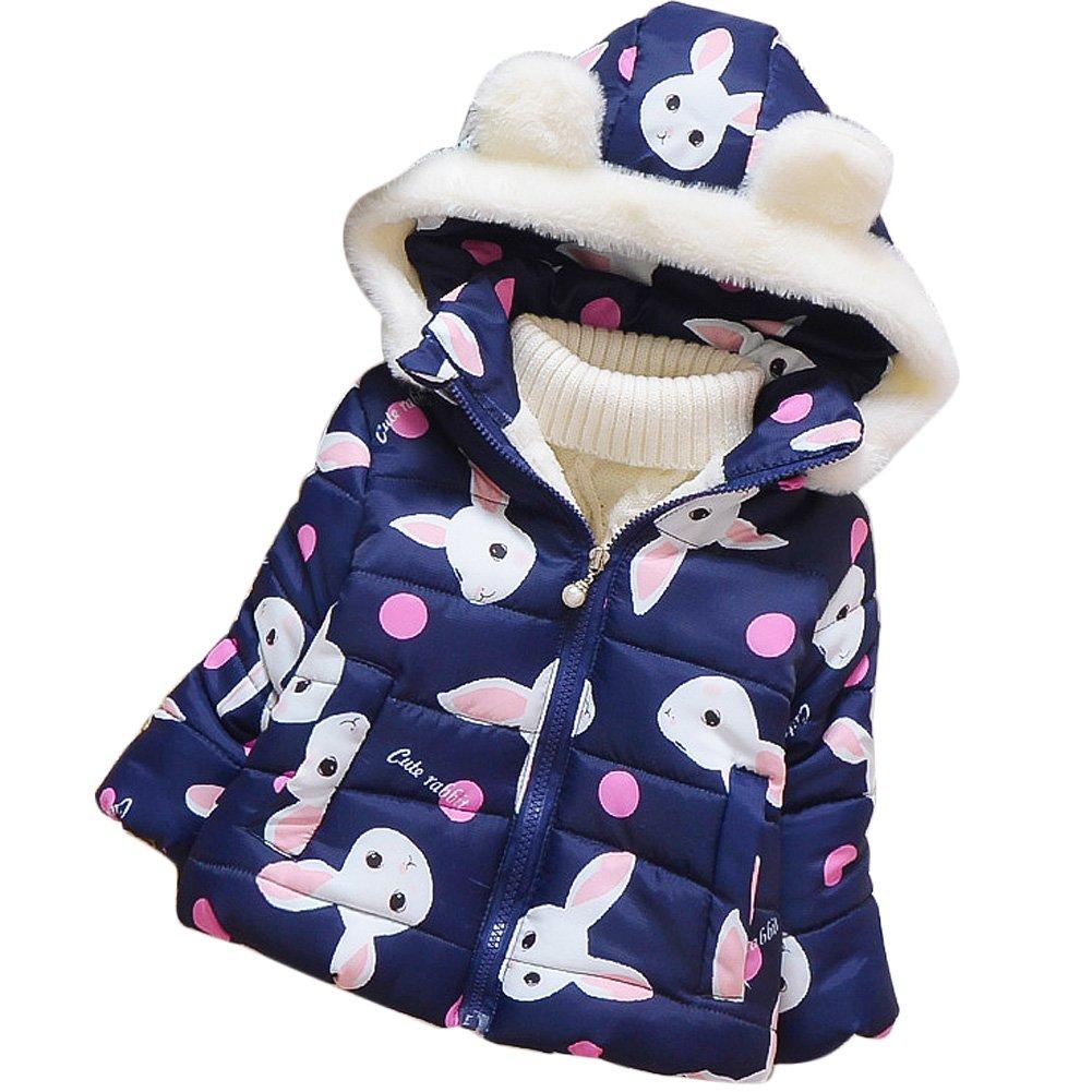 Coolloog Baby Girls Hoodie Snowsuit Coat Windproof Warm Jacket Outwear