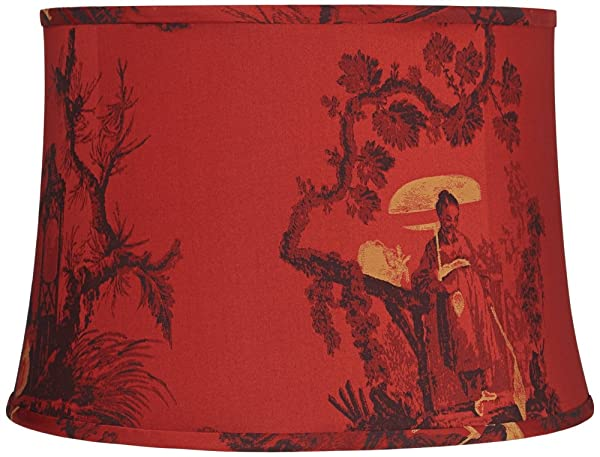 Red black and gold toile drum lamp shade 14x16x11 spider red black and gold toile drum lamp shade 14x16x11 spider aloadofball Choice Image