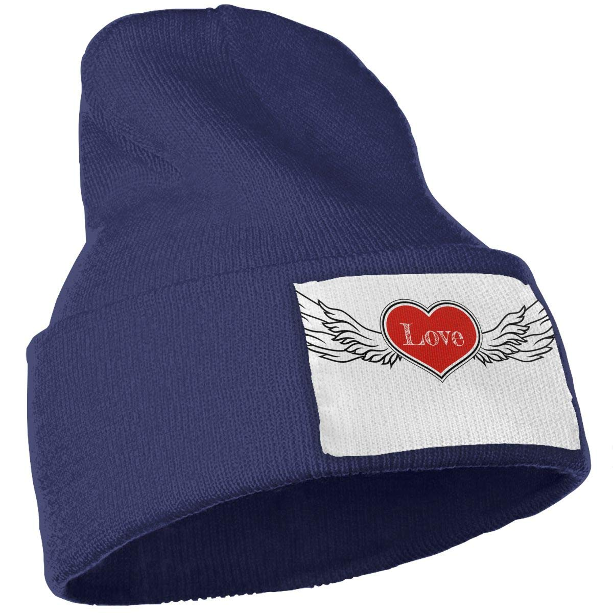 QZqDQ A Heart with Wings Unisex Fashion Knitted Hat Luxury Hip-Hop Cap