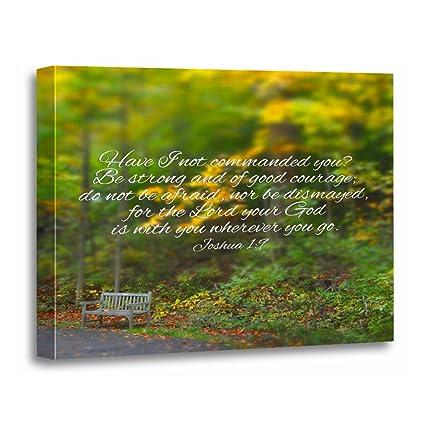 Amazon.com: TORASS Canvas Wall Art Print Trust Joshua Bible Verse ...
