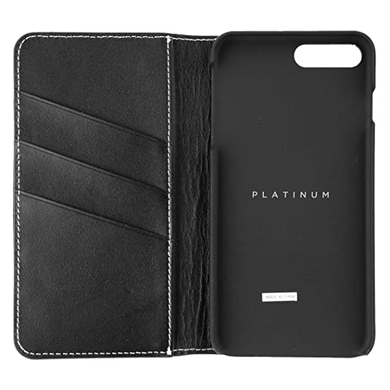 new concept 0756d 7c007 Platinum Series Leather Wallet Case for Apple iPhone 7 Plus, Model:  PT-MA7PLFW, Black