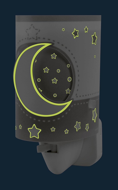Dalber 63235LE Moon and Stars, Luz nocturna Luna y estrellas gris, bombilla LED incluida, Clase de eficiencia energética A++: Amazon.es: Iluminación