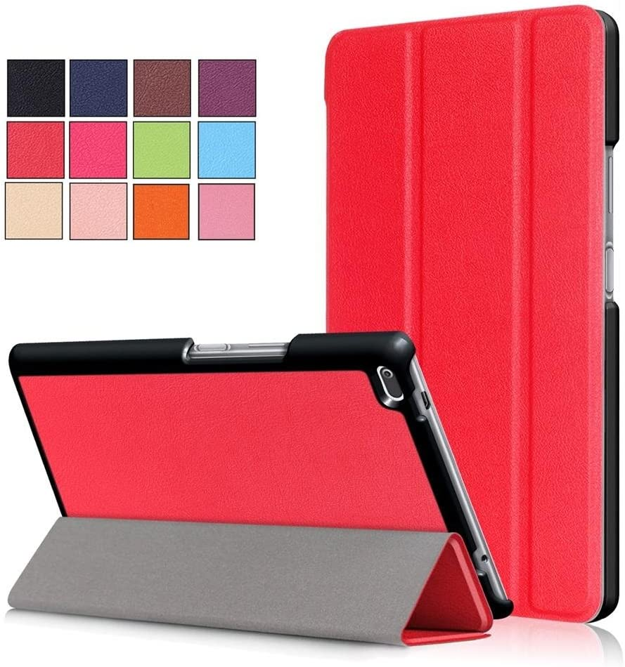 DETUOSI Slimshell Case for Lenovo Tab 4 8.0inch (Not Tab 4 8 Plus) Premium Lightweight Cover with Stand Holder for Lenovo TAB4 8 (TB-8504F,TB-8504N) Red