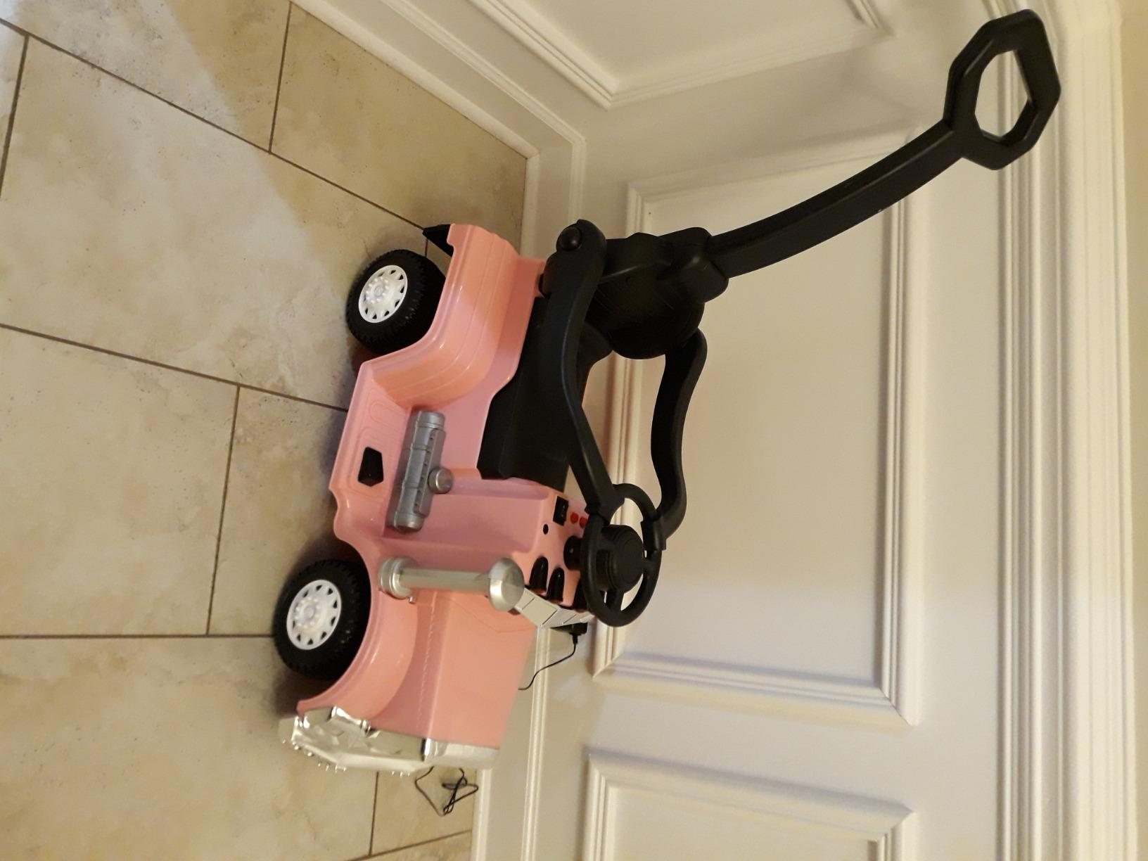 Toddler Push Car Kids Electric Ride-on Car, Pink photo review