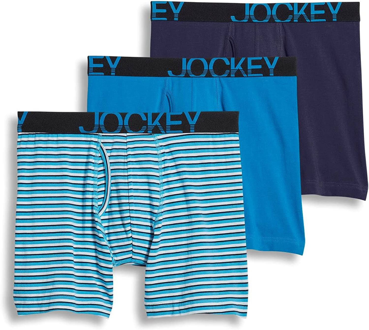 Jockey Men's Underwear ActiveStretch Midway Brief - 3 Pack