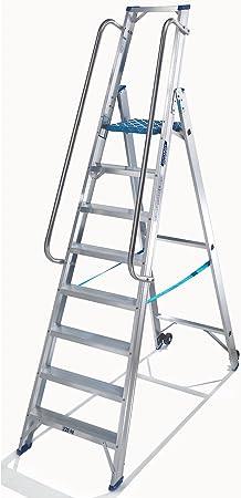 EUROKRAFT Stufen-Stehleiter beidseitig Standard-Ausf/ührung 2 x 8 Stufen