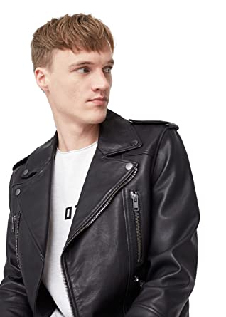 e9719da9a MANGO MAN - Leather Biker Leather Jacket - Size:XXL - Color:Black ...