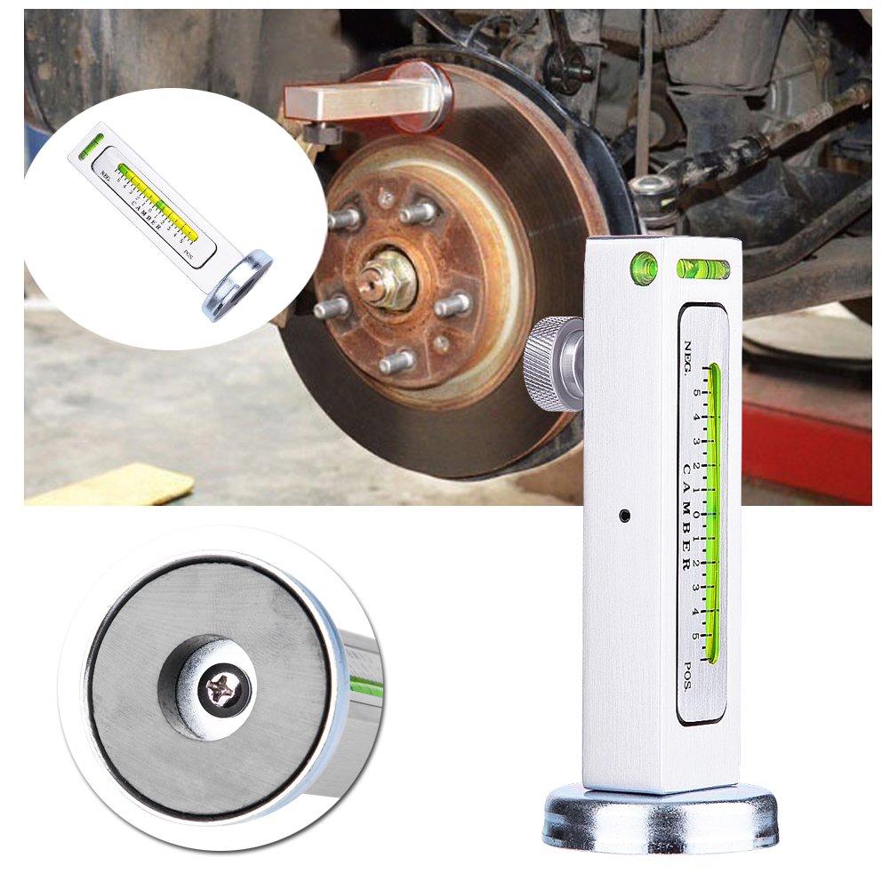 Herramientas de alineaci/ón de ruedas de camiones herramientas de re herramienta de calibrador magn/ético ajustable universal para autom/óviles Alineaci/ón de cubo de rueda de puntal de ruedas de cami/ón