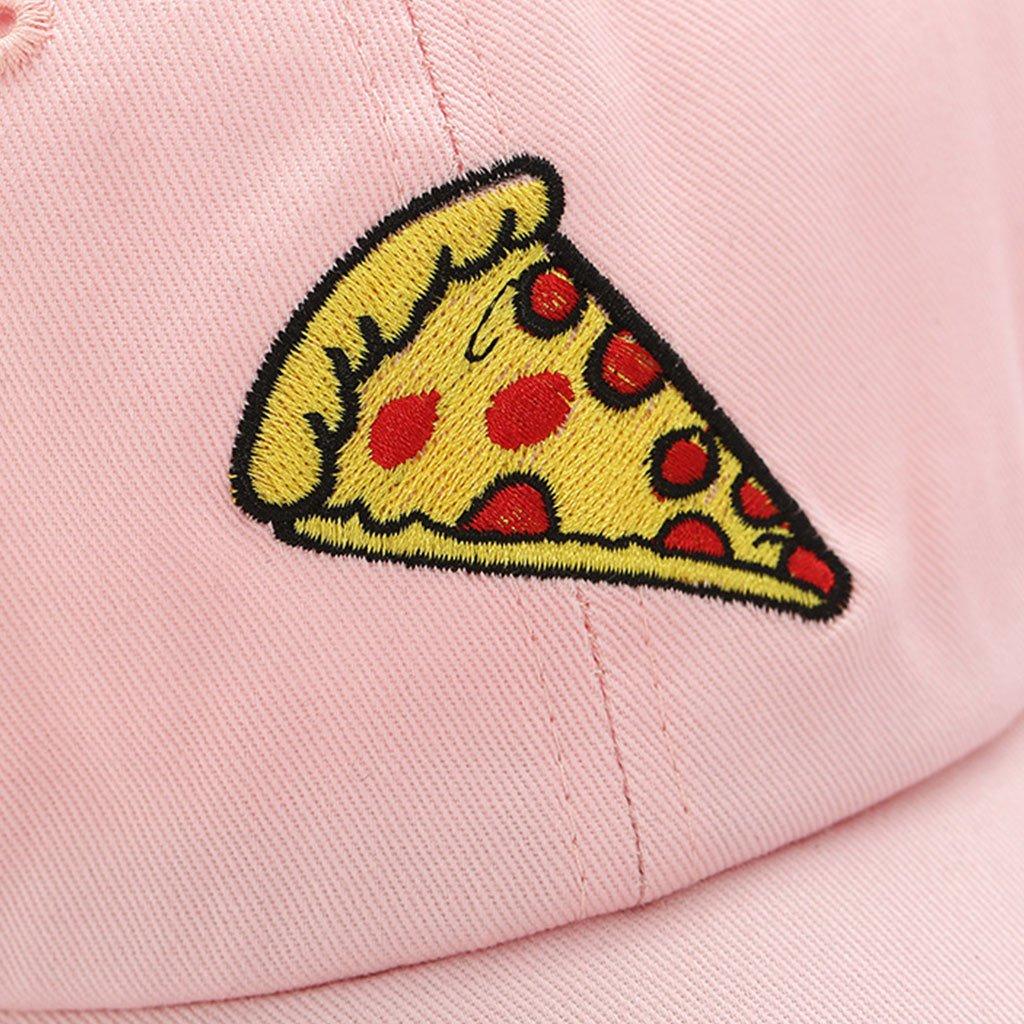 JOYKK Casquette de Baseball Pizza Chapeau de Camionneur Broderie Coton r/églable Style Hip Hop Unisexe Rose