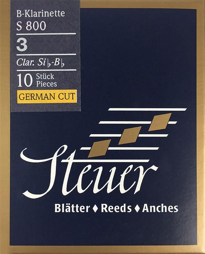 Steuer - Canas Clarinete en Sib Blue Line S800, corte alemán, caja ...