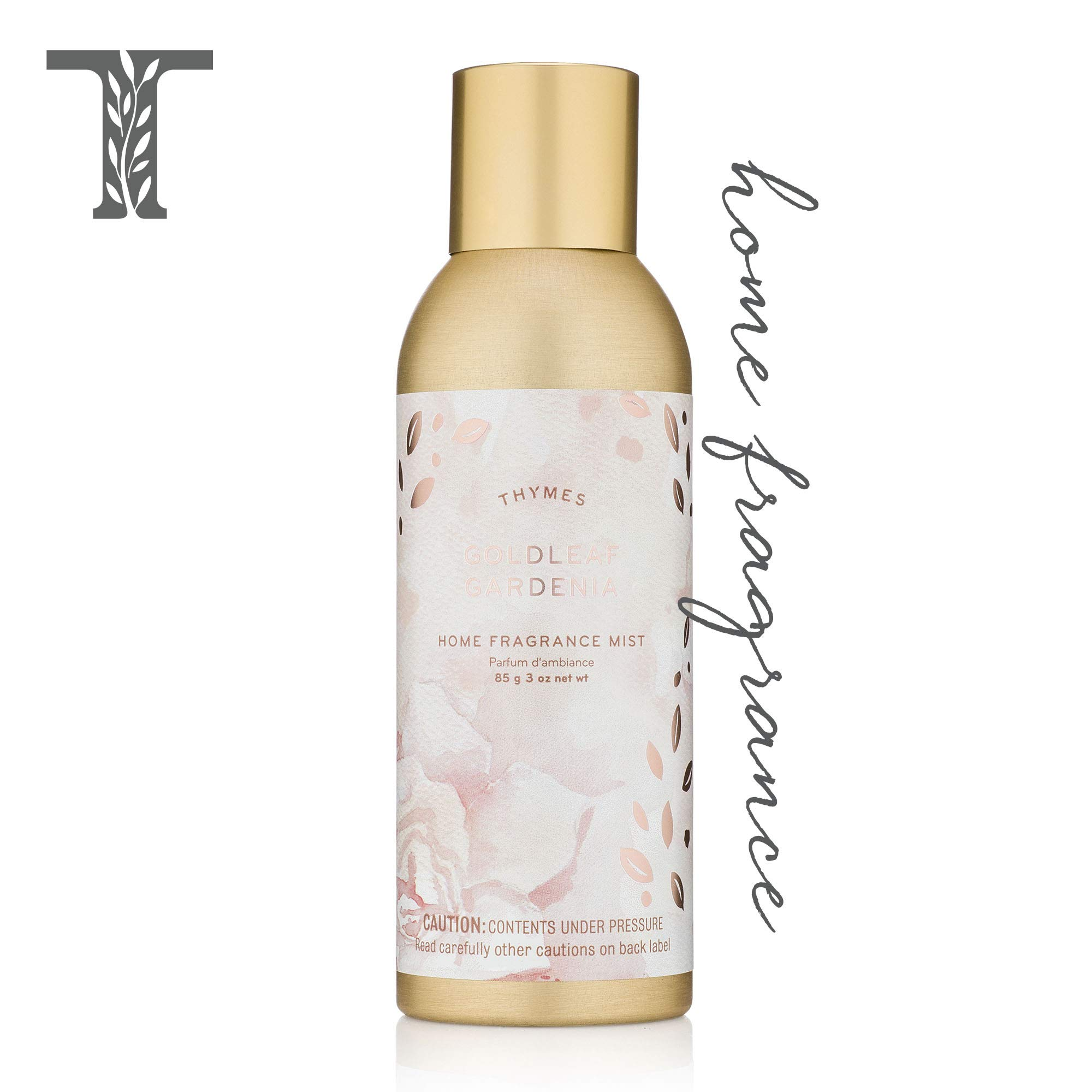 Thymes - Goldleaf Gardenia Home Fragrance Mist - Light Floral Scented Room Spray - 3 oz by Thymes