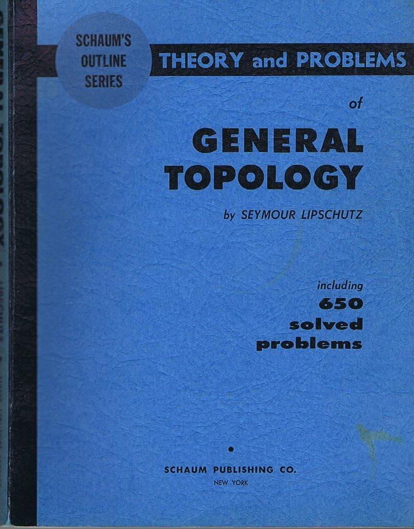 GENERAL TOPOLOGY LIPSCHUTZ PDF