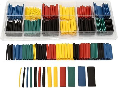 Kit de envoltura con caja de tubos de tubo termorretráctil 2: 1 con relación de surtido de 280PCS: Amazon.es: Bricolaje y herramientas