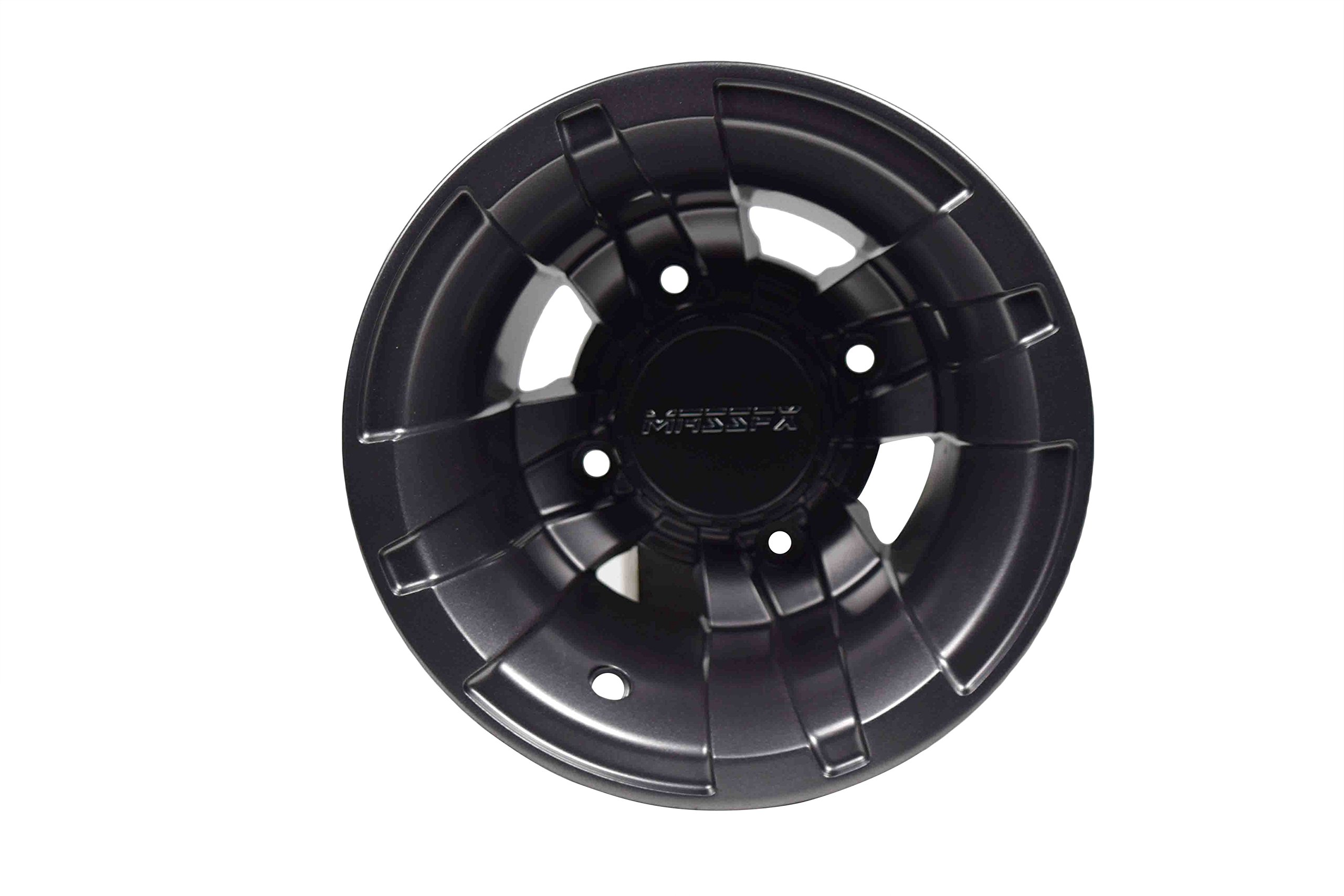 MASSFX 9x8 4/115 3+2 Offset Gun Metal ATV 9'' Rim Yamaha Single Rear Wheel Banshee 350 (1987-2006) Raptor 700 (2006-Present)
