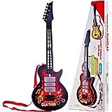 PHYNEDI Chitarra Elettronica per Bambini Chitarra Rock Giocattolo con Luci e Suoni Strumento Musicale Giocattolo per Principianti, Rosso