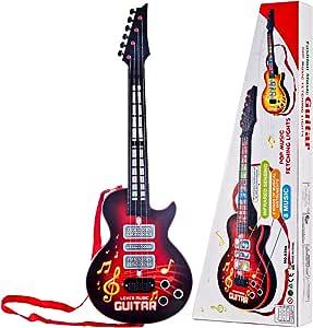 YAKOK 4 Cuerdas Guitarra Electrica Niños Guitarra Bebe Juguete ...