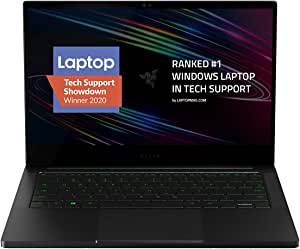 "Razer Blade Stealth 13 Ultrabook Gaming Laptop: Intel Quad Core i7-1065G7, NVIDIA GeForce GTX 1650 Ti Max-Q, 13.3"" 4K Touch, 16GB RAM, 512GB SSD, CNC Aluminum, Chroma RGB, Thunderbolt 3, Creator Ready"