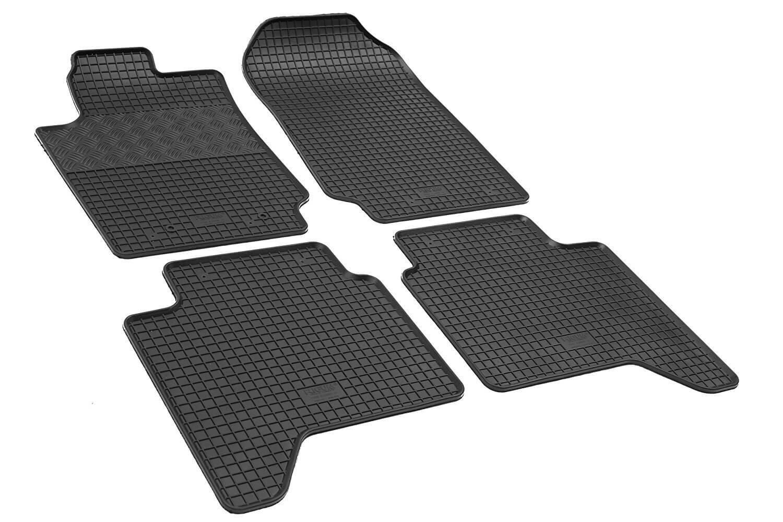 ilTappetoAuto® RIGUM900941 Auto-Fußmatten aus Echtem Gummi, geruchlos, Schwarz ilTappetoAuto®