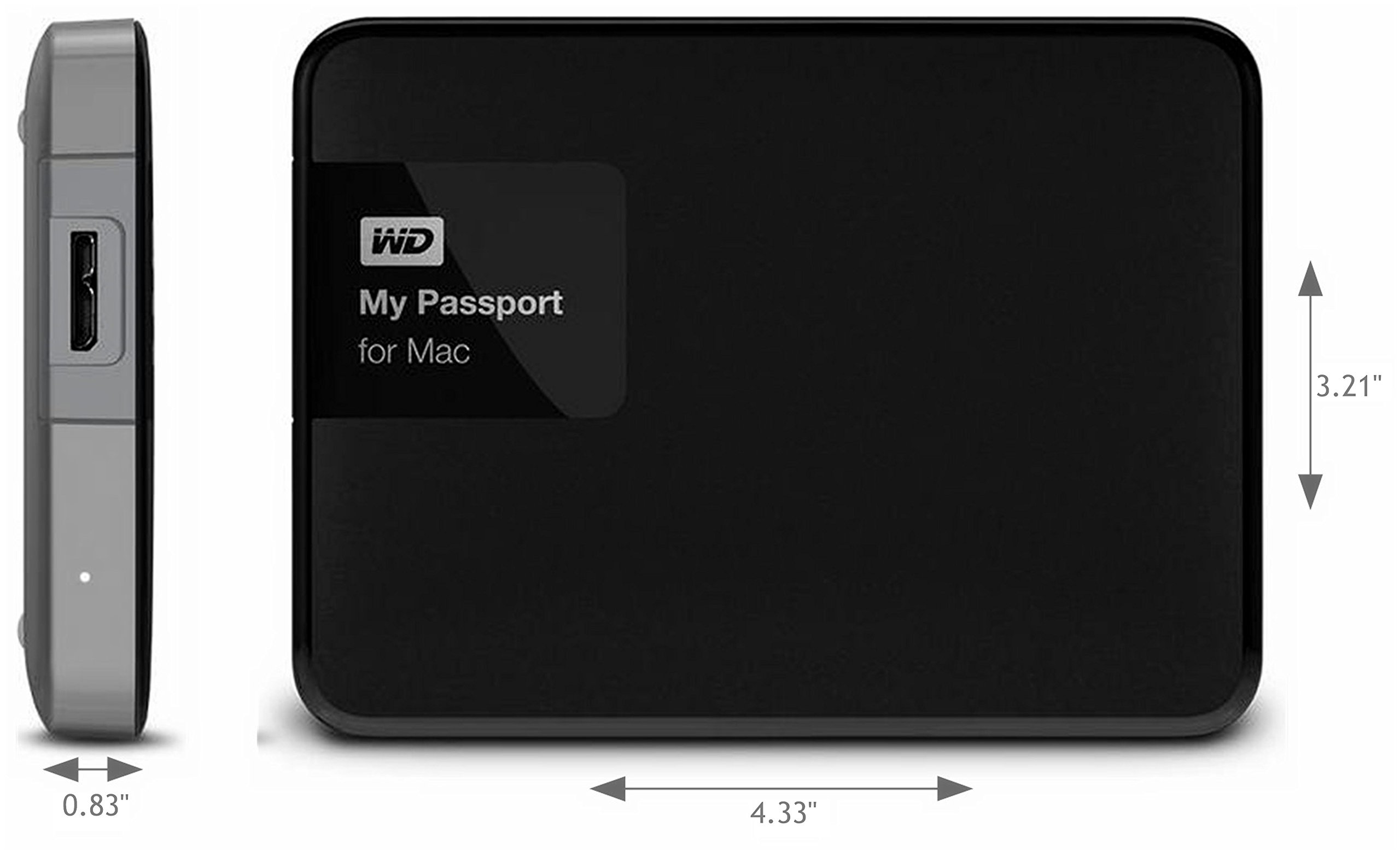 3TB Portable External Drive W/ USB 3.0 - WD My Passport Mac WDBCGL0030BSL