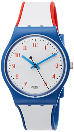 Swatch Originals Plein Gaz White Dial Silicone Strap Unisex Watch GN248