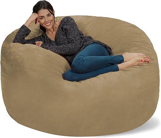 chill sack bean bag chair giant 5 memory foam furniture bean bag big sofa with soft micro fiber cover camel