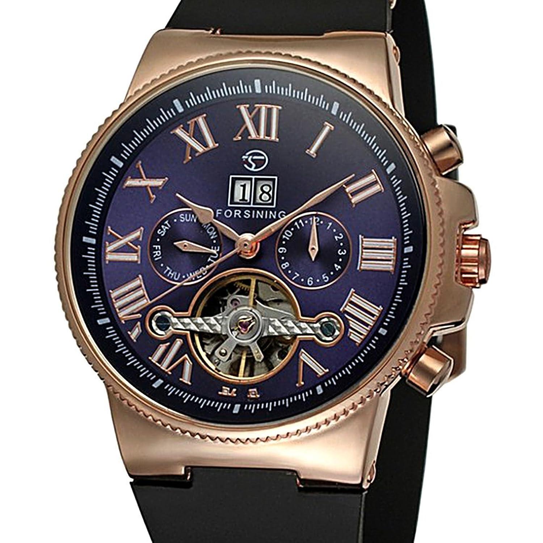 豪華なTourbillon Watchesクォーツ時計メンズ自動スケルトン機械カジュアル腕時計Herrenuhren B01EHH4HTG