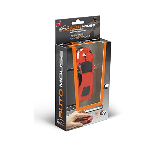 Amazon.com: AutoMouse Lamborghini Aventador LP700-4 Wireless Laser Optical Mouse - Orange: Computers & Accessories