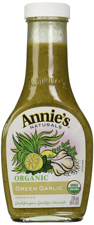 Annies Homegrown Drssng Garlic Green Org