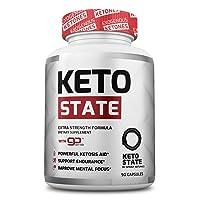 KetoState - Keto Pills with Exogeneous Ketones, MCT Oil, Apple Cider Vinegar (90...
