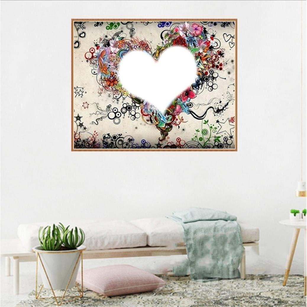 A 30cmX25cm callm DIY 5D Diamond Painting Kit Angle Elf Heart Home Cross Stitch Embroidery Rhinestone Painting Kits Home Decor