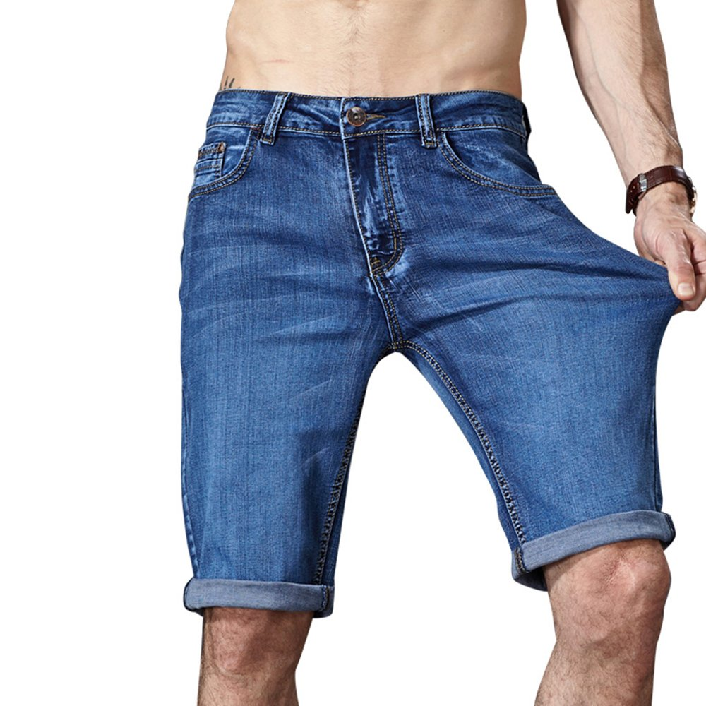 Summer Men Shorts Stretch Casual Denim Jeans Beach Short Jeans Bermuda Shorts