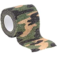 Camouflage Tape Wrap, Elastic Waterproof Camo Gun Barrel Scope Stealth Concealment for Hunting&Camping MASALING