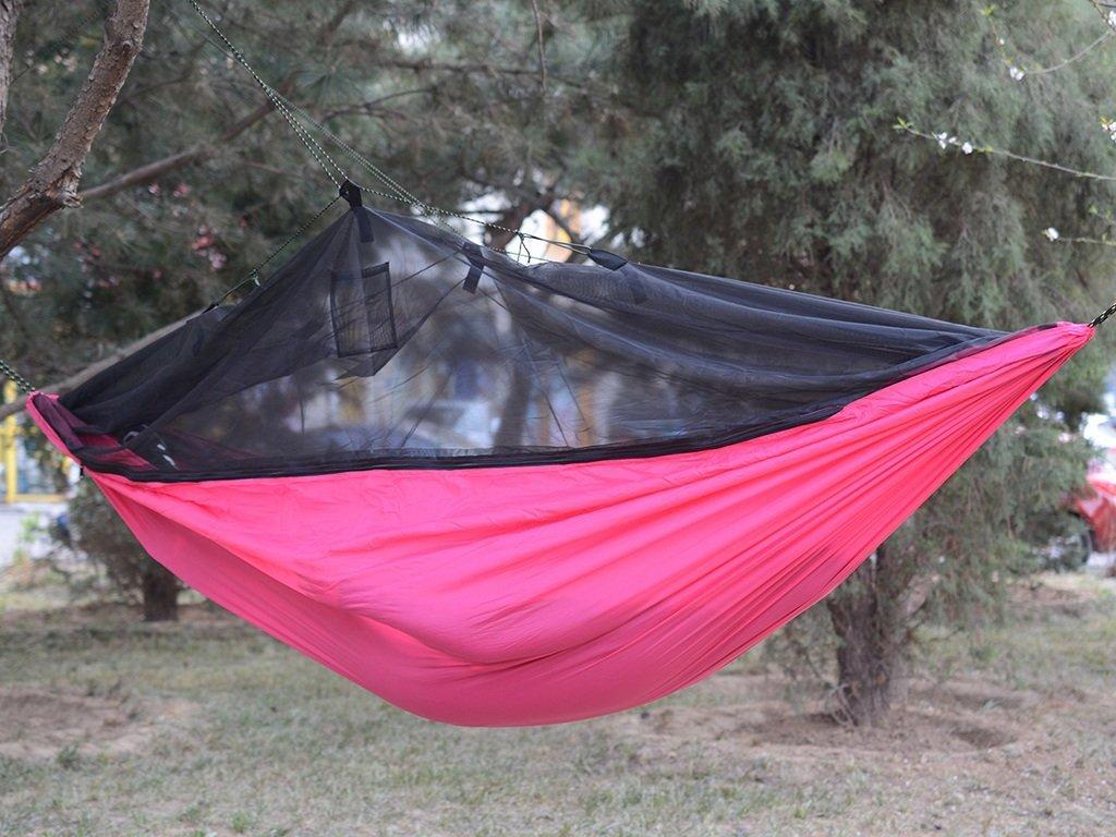 Hängematte Outdoor Freizeit Anti-Moskito Gaze Nylon Camping Draussen Drinnen 250  130cm -Ultralight Bequeme