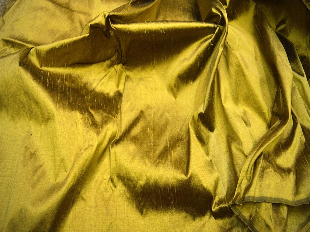 44 Antique Gold Pure Dupioni Silk Fabric by The Yard Indian Silk Fabric Raw Silk Silk Fabric for Wedding Dresses Pure Silk Fabric Sewing Crafting