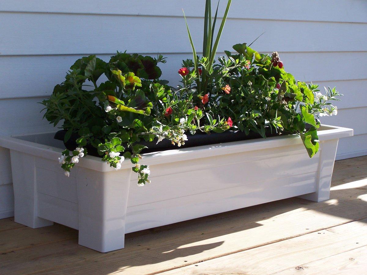 Amazon.com : Adams Manufacturing 9302 48 3700 36 Inch Deck Planter, White :  Deck Boxes : Garden U0026 Outdoor