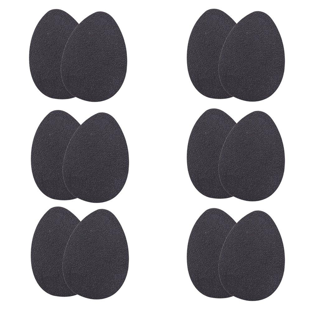 BESTOMZ 6 paires de semelles auto-adhésives à talons hauts protecteurs en caoutchouc anti-dérapant patins de chaussures autocollants antidérapant poignées de chaussures pour hommes et femmes surface mate (noir)