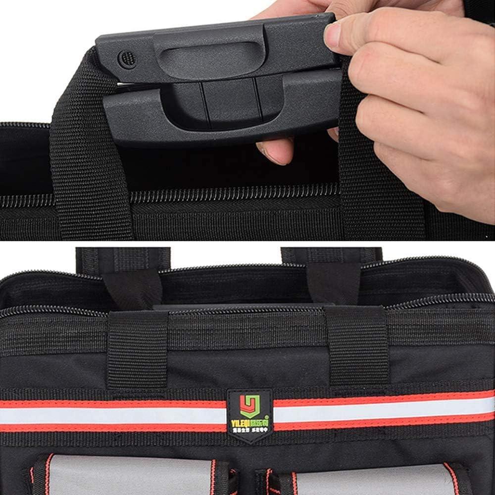 NOBRAND Tool Bag Oxford Cloth Double Shoulders Tool Backpack Repair Storage Backpack Bags,Black Grey
