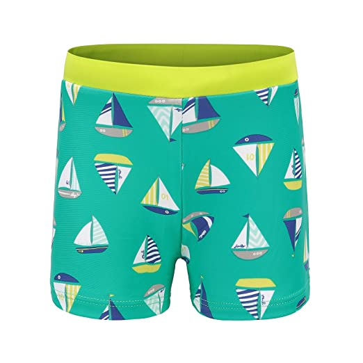 1094db0fff69f HowJoJo Little Boys Swim Trunks Kids Swim Shorts Cartoon Sailboat Swim Boxer  3T