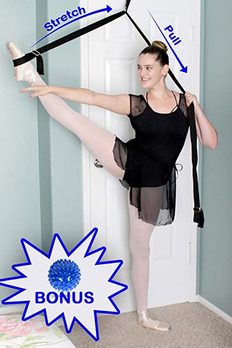 493e89134724e9 Ballet Door Stretcher with Spiky Massage Ball as Bonus (Color May Varies)  Stretch Bands
