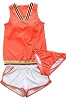 (アプラージュ)UPLAGE 水着 ビキニ レディース タンキニ ライン入り オレンジ ネオンカラー CV0069