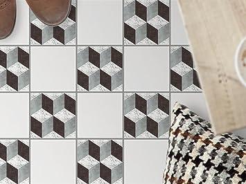 Creatisto Fliesen Bodendeko, Küchenfliesen | Bodenfliesen Sticker Aufkleber  Folie Bad Küche Fussboden Fliesenmuster Badezimmer