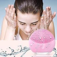 Silikon-Gesichtsreiniger, Xiaoyi Gesichtsreinigungsbürste Sonic Electric Wasserdichtes Silikon-Gesichtsmassagegerät Anti-Aging-Haut-Reinigungs-System für alle Hauttypen-Pink