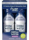 Dream Water Natural Sleep Aid, GABA, MELATONIN, 5-HTP, 2.5oz Shot, Snoozeberry, 4 Count