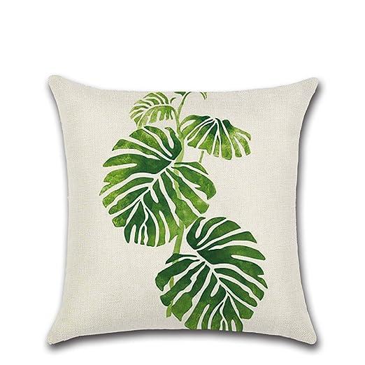Domivon Decorativa almohada tropisch hojas Plantas Impresión ...