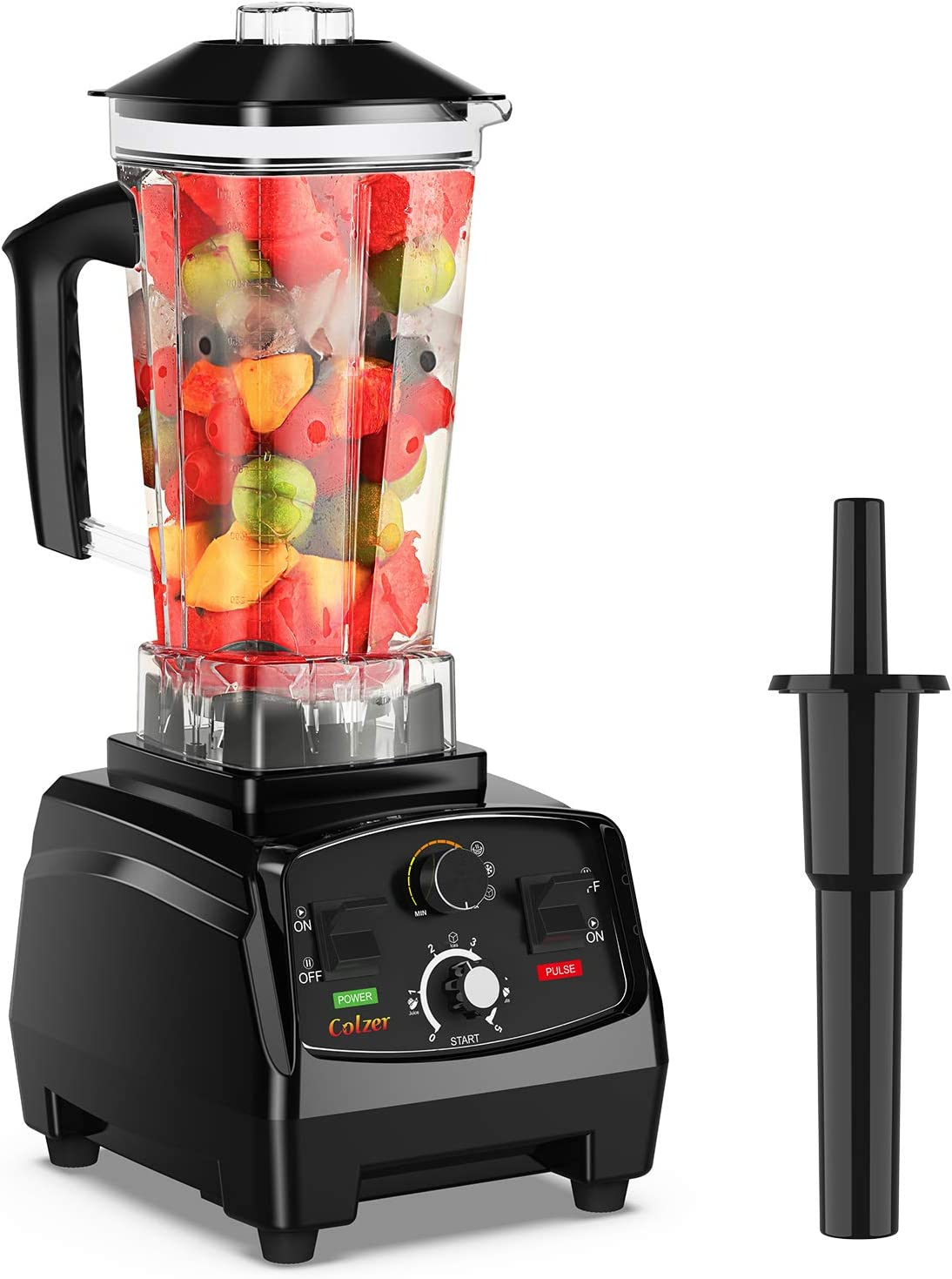 COLZER Professional Countertop Blender with 2200-Watt Base, Smoothie blender,Built-in Timer,High Power Blender 2L Cups for Frozen Drinks,Shakes and Smoothies