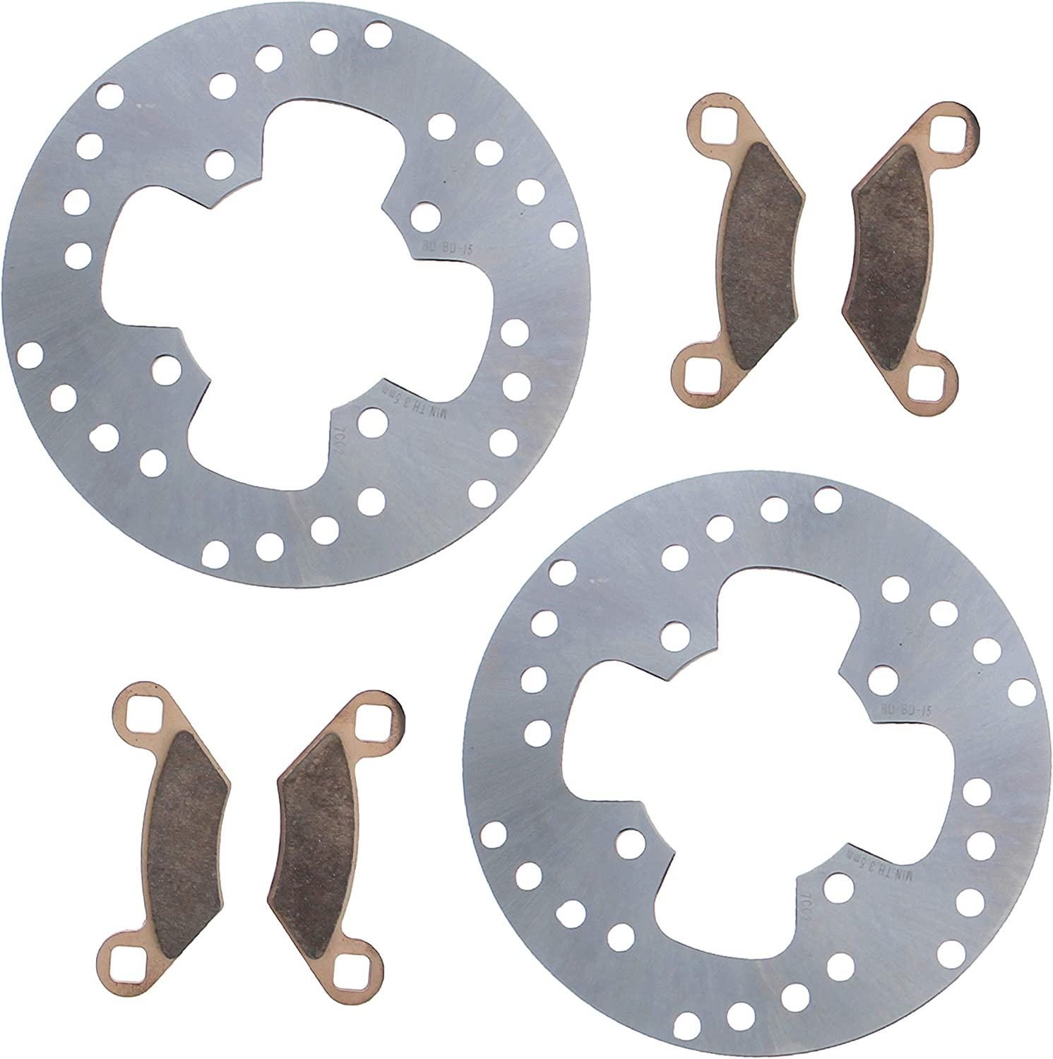 Front Rear Brake Pads For Polaris Magnum 500 2001 Magnum 500 4X4 HDS 2001