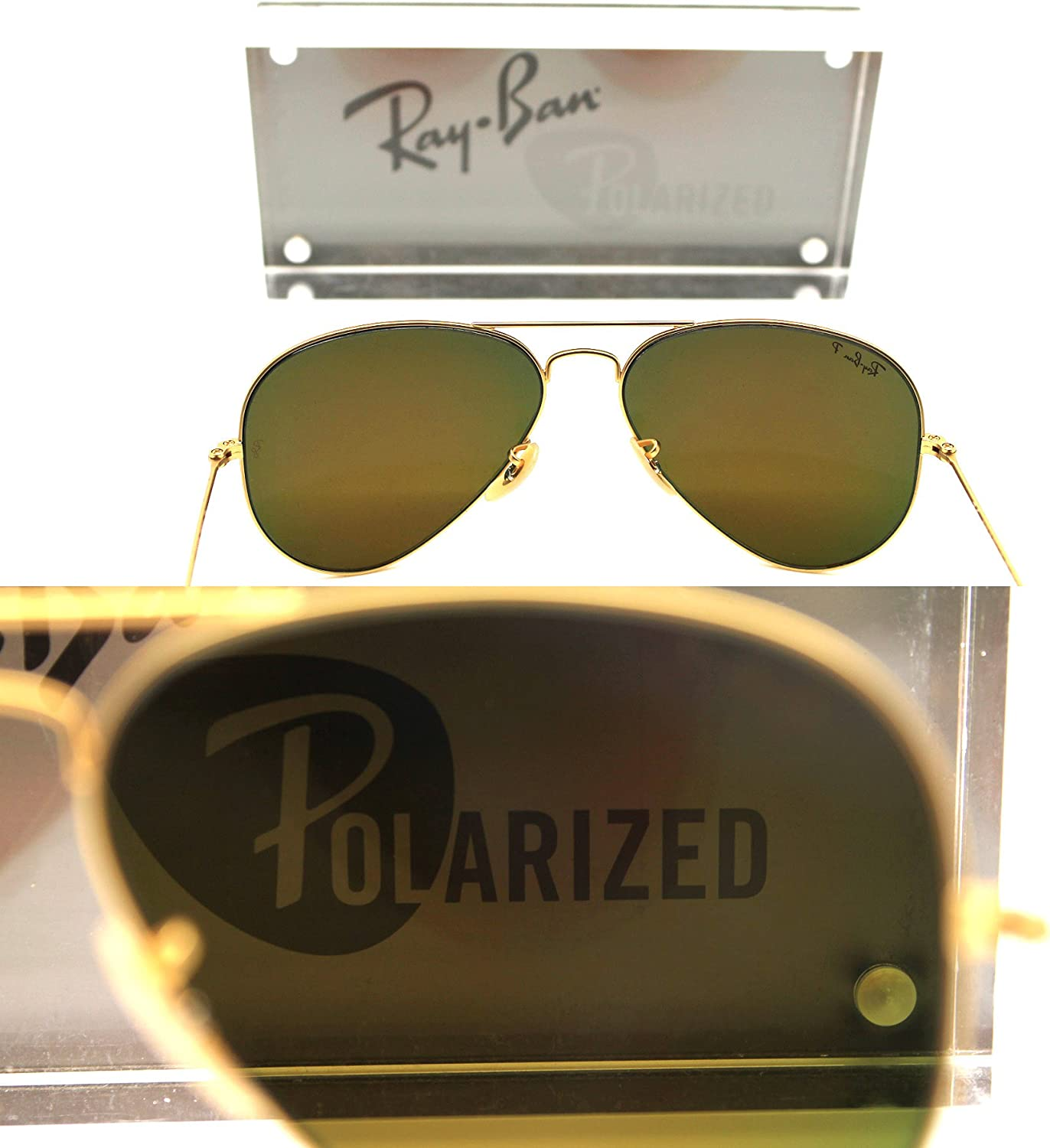 Ray Ban Aviators Matte Gold with POLARIZED Brown Mirror Red Lens RB 3025 112/4D 58mm 614Ra8OP8TLUL1500_