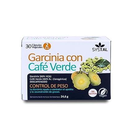 SYSTAL Garcinia con café verde 30 cápsulas: Amazon.es: Belleza